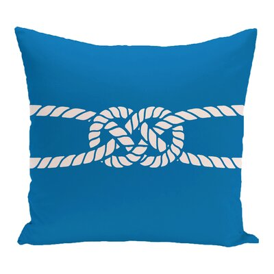 Hancock Carrick Bend Geometric Outdoor Throw Pillow Size: 20 H x 20 W, Color: Blue