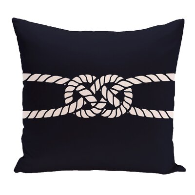 Hancock Carrick Bend Geometric Outdoor Throw Pillow Size: 20 H x 20 W, Color: Navy Blue