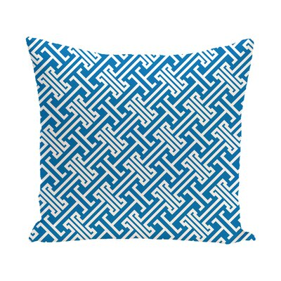 Hancock Leeward Key Geometric Outdoor Throw Pillow Size: 20 H x 20 W, Color: Blue