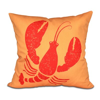 Hancock Lobster Coastal Throw Pillow Size: 16