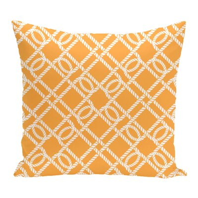 Bridgeport Know the Ropes Geometric Outdoor Throw Pillow Size: 20 H x 20 W, Color: Yellow