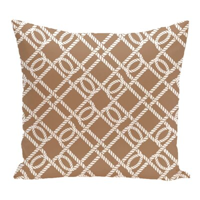 Bridgeport Know the Ropes Geometric Outdoor Throw Pillow Size: 20 H x 20 W, Color: Beige/Taupe