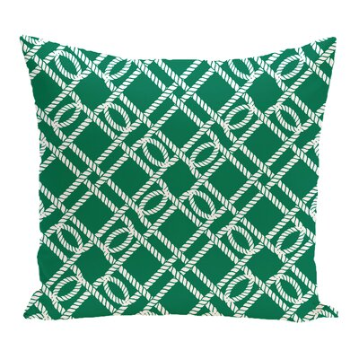 Bridgeport Know the Ropes Geometric Outdoor Throw Pillow Size: 20 H x 20 W, Color: Green