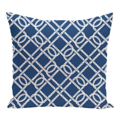 Bridgeport Know the Ropes Geometric Outdoor Throw Pillow Size: 20 H x 20 W, Color: Blue