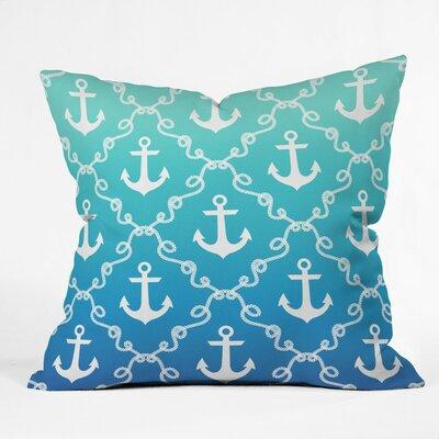 Denton Nautical Knots Ombre Outdoor Throw Pillow Size: 16 H x 16 W x 4 D