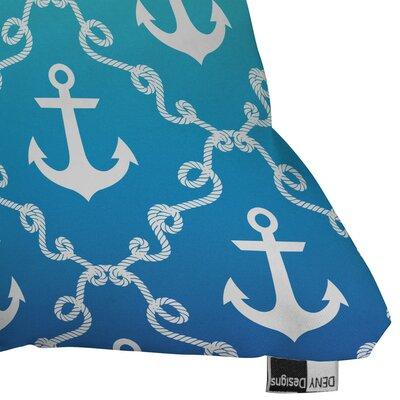 Denton Nautical Knots Ombre Outdoor Throw Pillow Size: 18 H x 18 W x 5 D