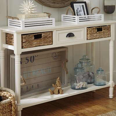Deepwater 1 Drawer Console Table Finish: Distressed White