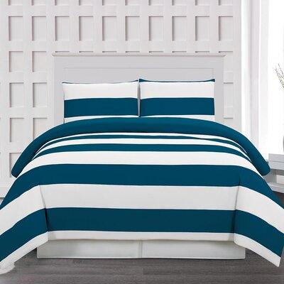 Whimbrel 3 Piece Duvet Cover Set Color: Cobalt, Size: King