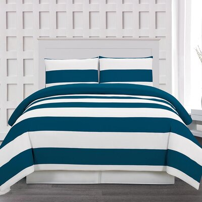 Whimbrel 3 Piece Duvet Cover Set Size: Full/Queen, Color: Cobalt