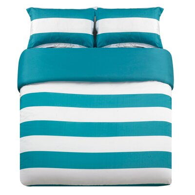 Whimbrel 3 Piece Duvet Cover Set Color: Teal, Size: King