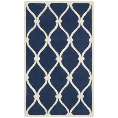 Aberdeen Navy & Ivory Area Rug Rug Size: 4 x 6