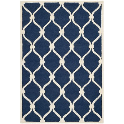 Aberdeen Navy & Ivory Area Rug Rug Size: 9 x 12