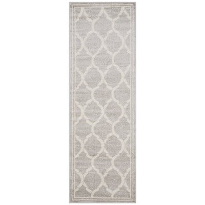 Rutherford Light Gray / Ivory Indoor/Outdoor Area Rug Rug Size: Runner 23 x 9