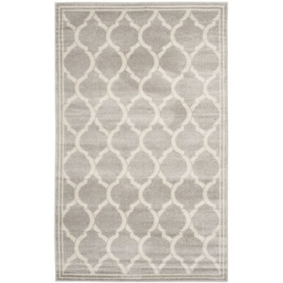 Rutherford Light Gray / Ivory Indoor/Outdoor Area Rug Rug Size: 5 x 8