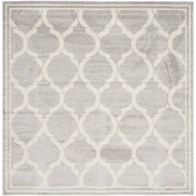 Rutherford Light Gray / Ivory Indoor/Outdoor Area Rug Rug Size: Square 7