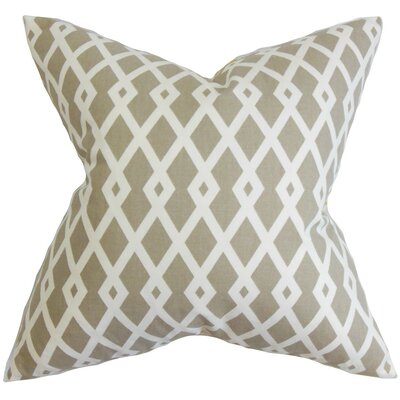 Lexington Geometric Cotton Throw Pillow Color: Flax, Size: 18x18