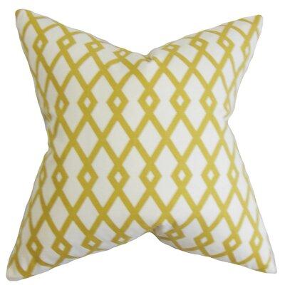 Lexington Geometric Cotton Throw Pillow Color: Citrine, Size: 20 x 20