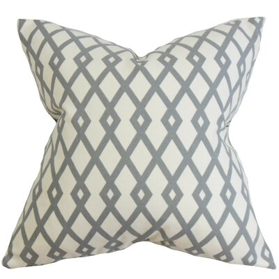 Lexington Geometric Cotton Throw Pillow Color: Grey Stone, Size: 18x18