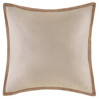 Spencer Linen Throw Pillow Color: Beige