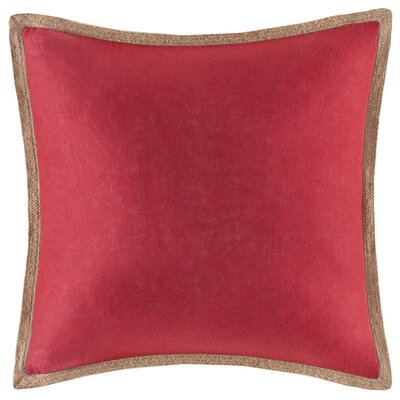 Longford Linen Throw Pillow Color: Red