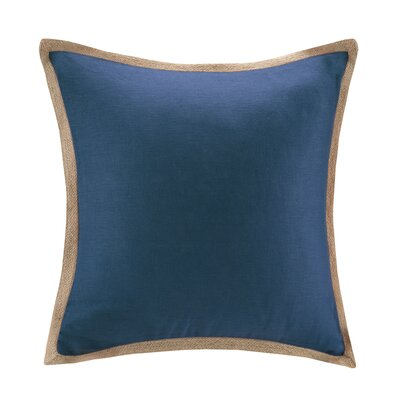 Longford Linen Throw Pillow Color: Navy