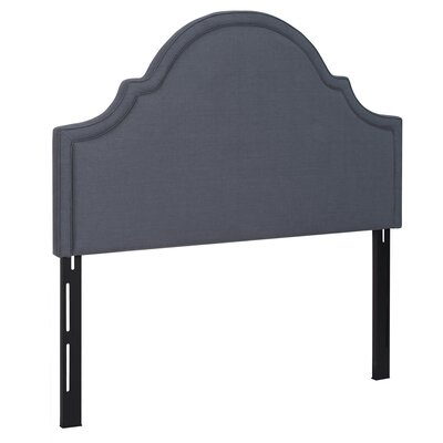 Calvert Upholstered Panel Headboard Size: King, Upholstery: Monument Grey
