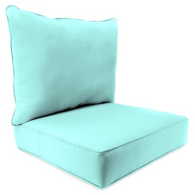 2 Piece Indoor/Outdoor Chair Cushion Set Fabric: Sunburst Pool