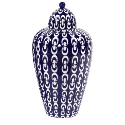 Ceramic Decorative Urn Size: 16 H x 8.5 W x 8.5 D
