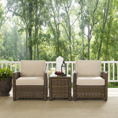 Dardel 3 Piece Deep Seating Group Fabric: Sand