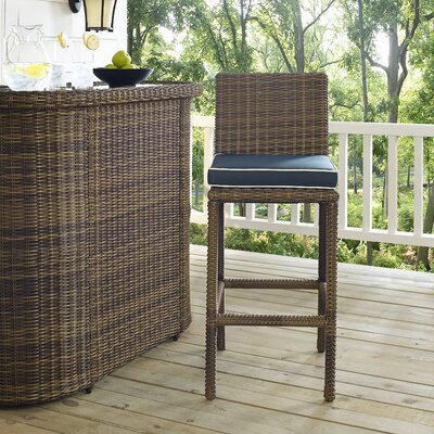 Breakwater Bay Middlesex Bar Stool with Cushion
