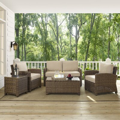 Middlesex 5 Piece Deep Seating Group Fabric: Sand
