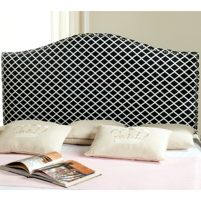 Little Deer Isle Upholstered Panel Headboard Size: Full, Upholstery: Navy/White