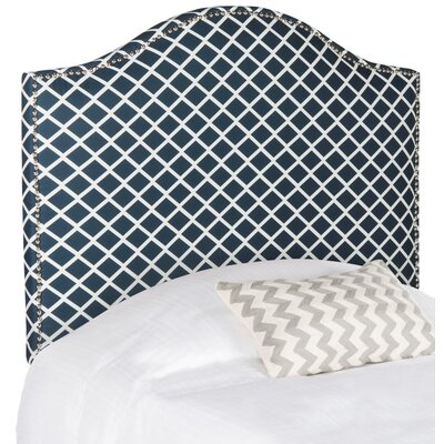Little Deer Isle Upholstered Panel Headboard Size: Twin, Upholstery: Navy & White