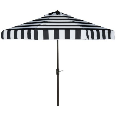 9' Stripe Drape Umbrella Color: Black/White