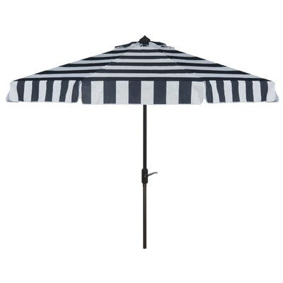 Seaport 9 Stripe Drape Umbrella Color: Navy/White
