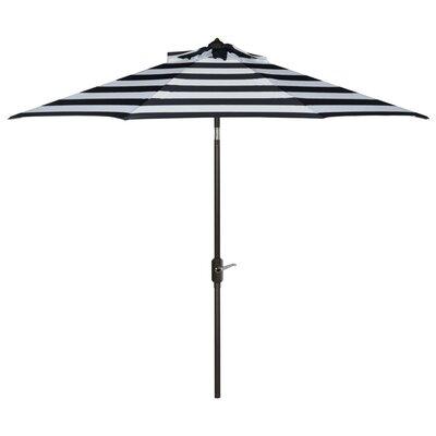 9 Polyester Market Umbrella Color: Navy/White