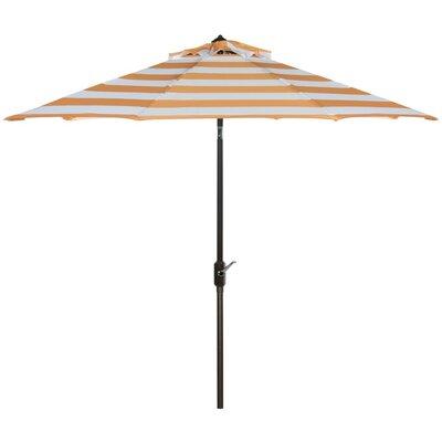 9 Polyester Market Umbrella Color: Orange/White