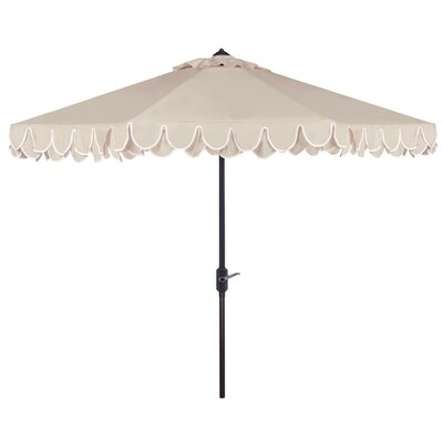 9 Drape Umbrella Fabric: White/Black