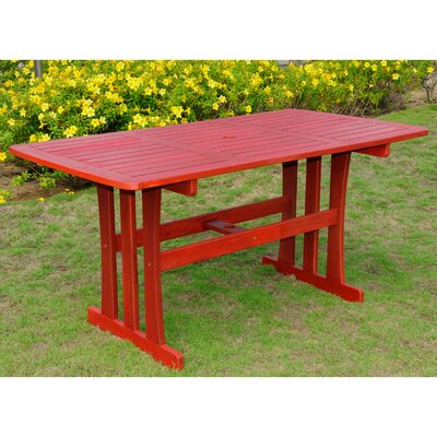 Sabbattus Dining Table Finish: Barn Red