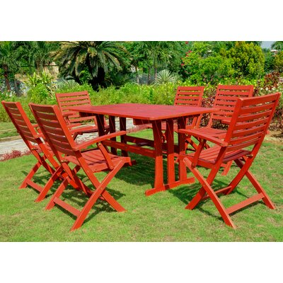 Sabbattus 7 Piece Dining Set Finish: Barn Red