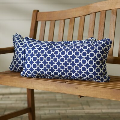 Anabella Coastal Indoor/Outdoor Lumbar Pillow Size: 12 x 24