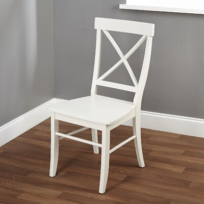 Melbourne Shores Solid Wood Dining Chair Finish: Antique White