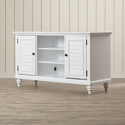 Harrison 56 TV Stand Color: Brushed White