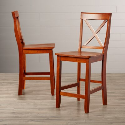 Delaine 24 Bar Stool Color: Classic Cherry