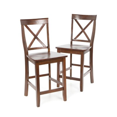 Delaine 24 Bar Stool Color: Vintage Mahogany