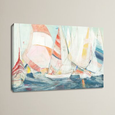 'Rounding the Mark' by Marlene Lawrence Painting Print on Wrapped Canvas