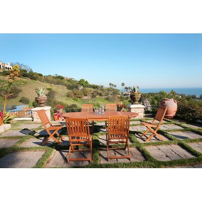 Monterry Traditional 7 Piece Eucalyptus Wood Dining Set