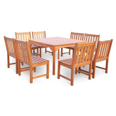 Monterry 9 Piece Outdoor Dining Set