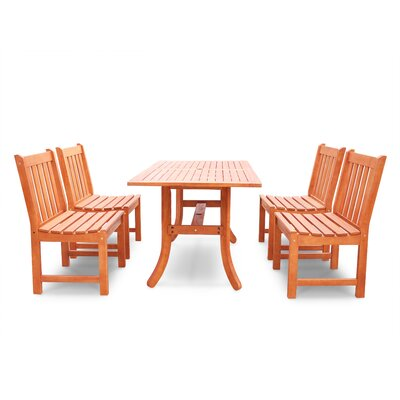 Monterry 5 Piece Eucalyptus Dining Set