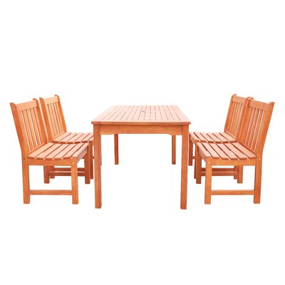 Monterry Classic 5 Piece Wood Dining Set